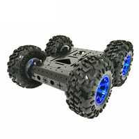 DOIT C3 4WD Smart Robot Car with High Hardess of Steel, 4 DC 12V Motor, 130mm Rubber Wheel, High Loading Capacity DIY RC Toy