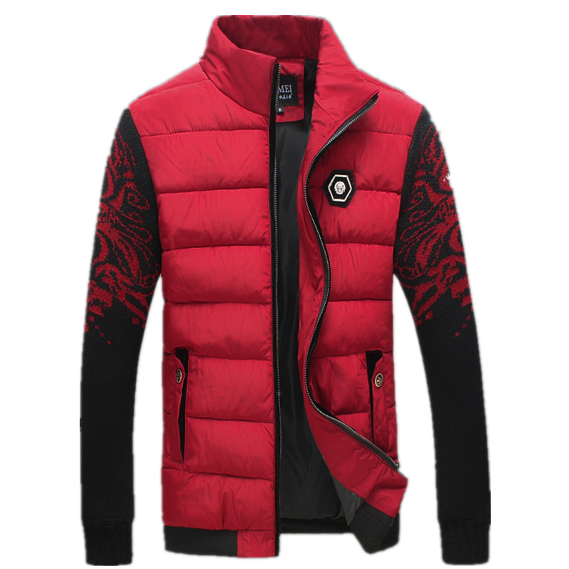 2016 autumn and winter Men s fashion cotton quilted jacket Men flower color cotton jacket Free