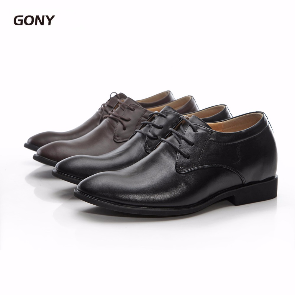 High-quality Height Increasing 5.5 CM Mens Genuine Leather Lace up Dress Elevator Shoes for Wedding Party WearHigh-quality Height Increasing 5.5 CM Mens Genuine Leather Lace up Dress Elevator Shoes for Wedding Party Wear