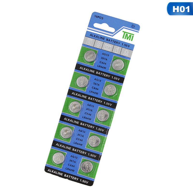 10pcs AG13 1.5V LR44 L1154 RW82 RW42 SR1154 SP76 A76 357A Pila Lr44 SR44 AG 13 Alkaline Button Cell Coin Battery