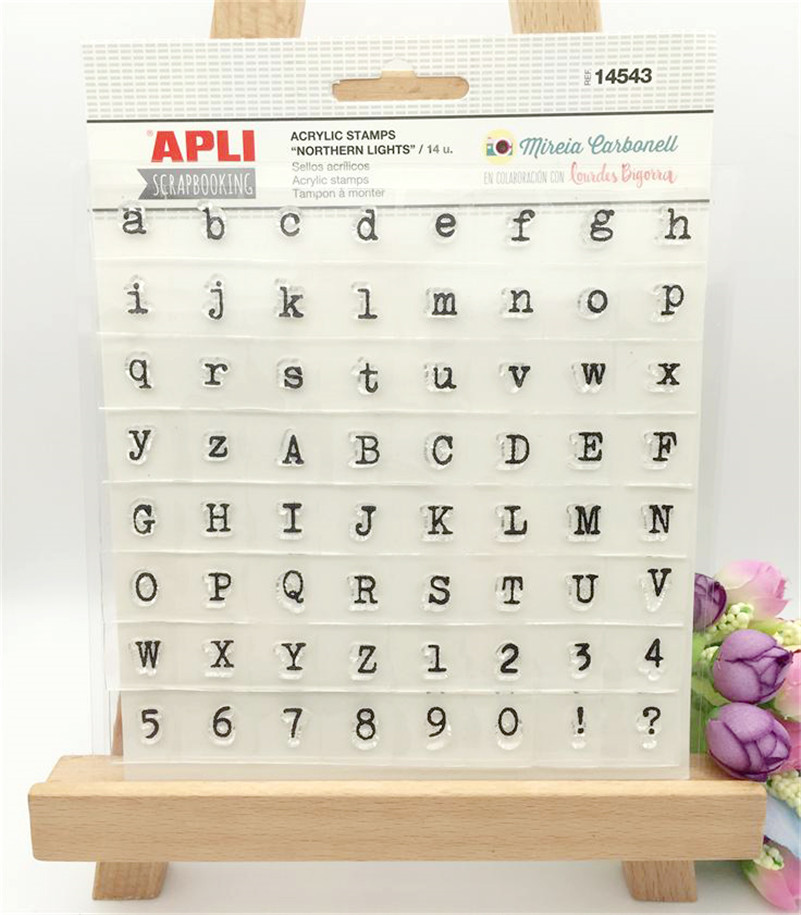 scrapbooking DIY photo cards about English letters silicon stamps transparent stamp for Christmas LL-005 about