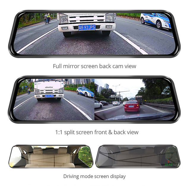 Junsun New 4G ADAS Android Car DVR Camera 10″ Streaming RearView Mirror 1080P WiFi GPS Dash Cam Registrar Special Video Recorder