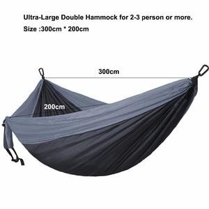 Image 2 - 118in x 79in Parachute Hammock Camping Survival Garden Hunting Leisure Hammock Travel Double Person Hamak Ramac