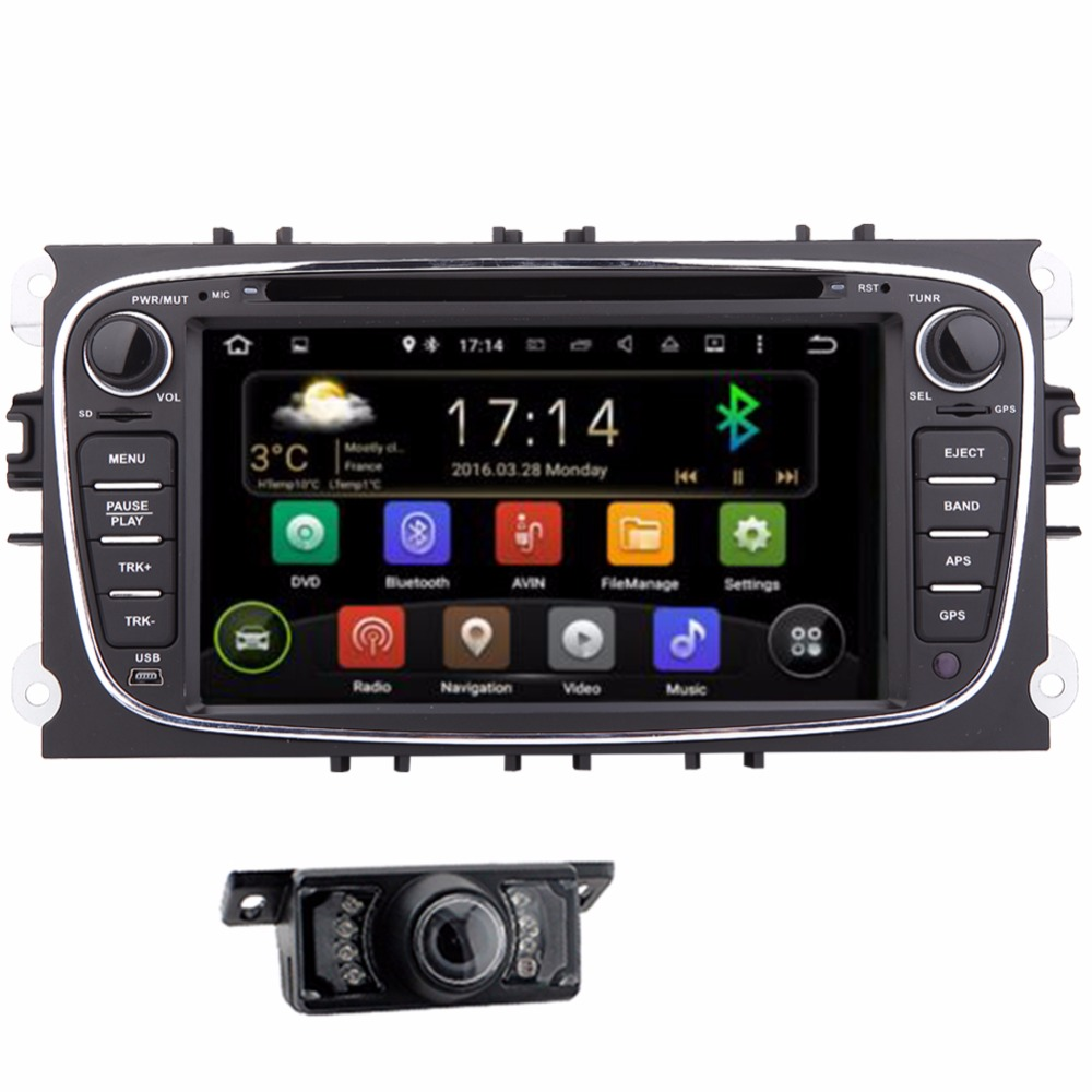 Android 2Din 7 Inch Car DVD for FORD FOCUS 2 MONDEO 2012 2013 2014 2015 With WIFI Radio GPS BT auto ford car dvd focus USB SD