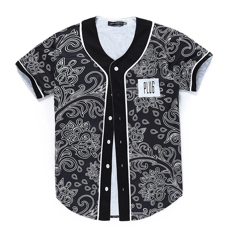Autumn Winter Bandana Print Novelty T-shirt Men Short Sleeve V Neck Men Tee Shirt Clothing Camisetas Men T Shirt Plus Size