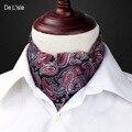 Men's Fashion Vingtage Estilo Padrão de Tecido Dupla-face Elegante Paisley Bordado Gravata Lenço De Seda-Tomada de Fábrica