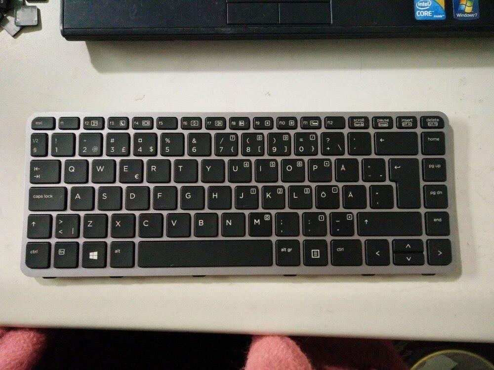 New Laptop keyboard for  HP EliteBook Folio 1040 G1 1040 G2 1000  SD/Sweden layout laptop keyboard for acer silver without frame sweden sw v 121646ck2 sd aezqsd00110