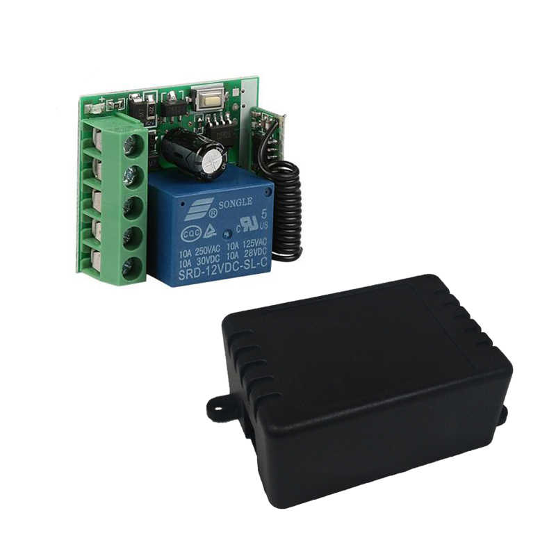 Qiachip 433 433mhz のユニバーサルワイヤレスリモートコントロールスイッチ dc 12 v 1CH リレー受信機モジュール + トランスミッタ電子ロック制御