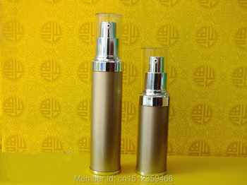 20ML 30ML Golden Airless Cosmetic Bottles,Water Extract Sub Bottle Of Empty Bottles, Cosmetic Emulsion Bottle,  20 Pieces/Lot