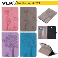 VCK Pattern TPU Flip Leather For Apple IPad Mini 1 2 3 Case Stand Ultra Thin
