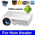 LED96 Quad core Android 4.4 1080 P wi-fi светодиодный проектор 5500 Люмен full hd 3d домашний кинотеатр lcd видео HDMI proyector projektor проектор