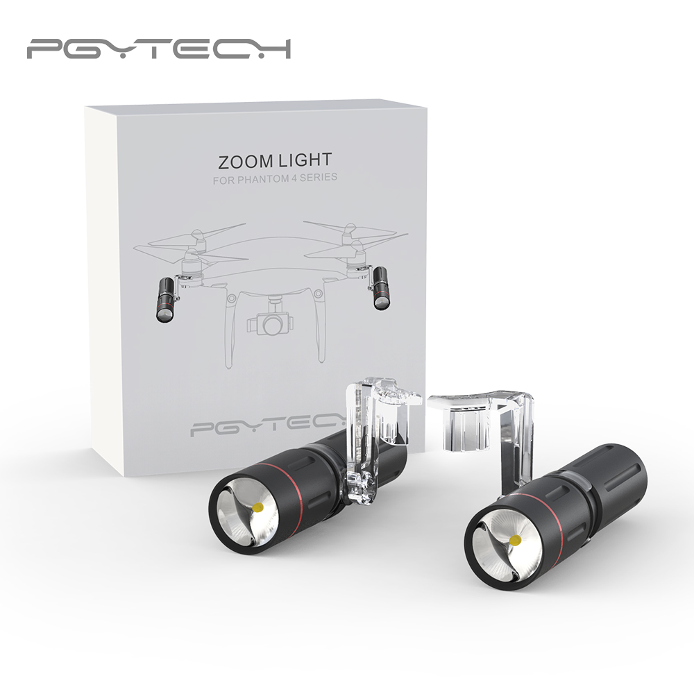 PGYTECH New Zoom LED Light Lighting For DJI Phantom 4 PRO / Phantom 4 / Phantom 4 Advanced Camera Drone Accessories new brand phantom 4 battery li po 4s 5870mah 15 2v intelligent flight max 30 min for dji phantom 4 4 pro advanced drone