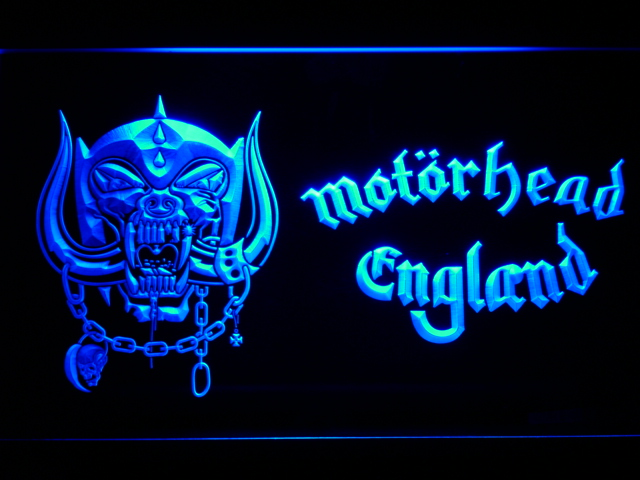 c202 Motorhead England LED Neon Sign with On/Off Switch 20+ Colors 5 Sizes to choose