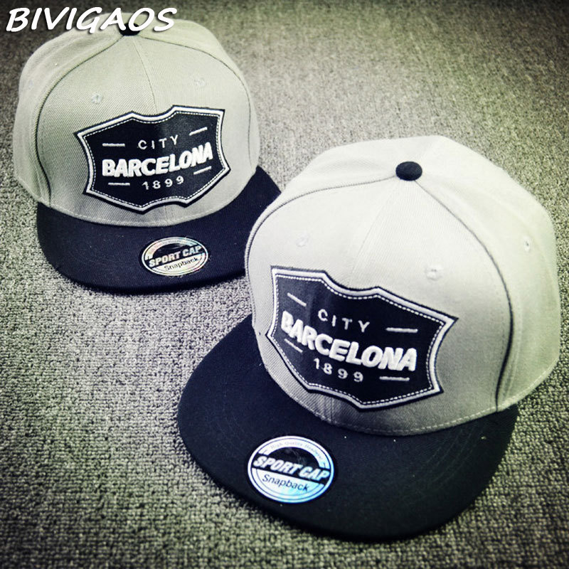 32d2095fc3b 2016 Men s New CITY BARCELONA 1899 Casual Snapback Hats Stick ...