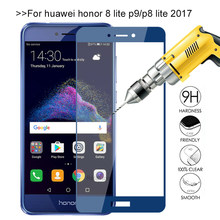 Honor 8 Lite Glass for Huawei P8 lite 2017 Case Tempered Glass Honer 8 light Screen Protector Cover Film for Huawei P9 lite 2017(China)