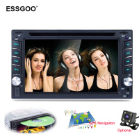 Essgoo 6.2 2 Din Car Radio Bluetooth Dvd Player Gps Navigation Fm Rds Rear View Camera Optional Car Stereo Autoradio Navigators
