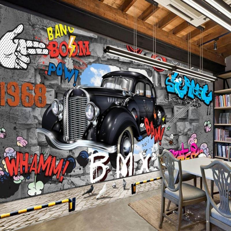 Photo Wallpaper Custom Retro Nostalgic 3D Stereo Brick