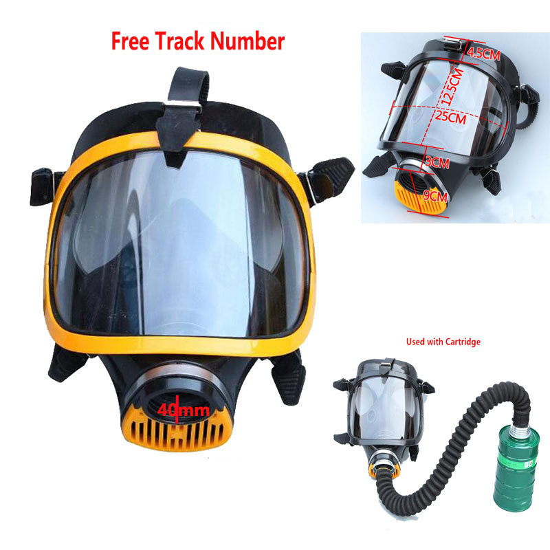 Chemcial Paint Spraying Russian Soviet Military Vintage Gas Mask Full Face Industry Respirator 40mm With 40MM Hose Tube