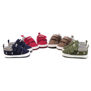 Infant Babies Boy Girl Shoes Sole Soft Canvas Solid Footwear For Newborns Toddler Crib Moccasins 4 Colors Available 1