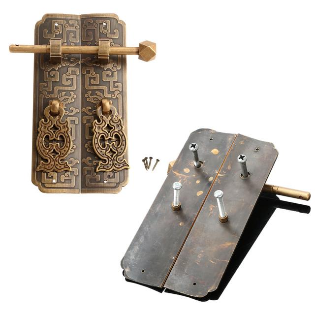 Antigo Mobiliário de Latão Hardware Anéis Tira Porta do Armário Puxador de Gaveta Knob Pull Handle Puxadores Para Móveis Decorativos
