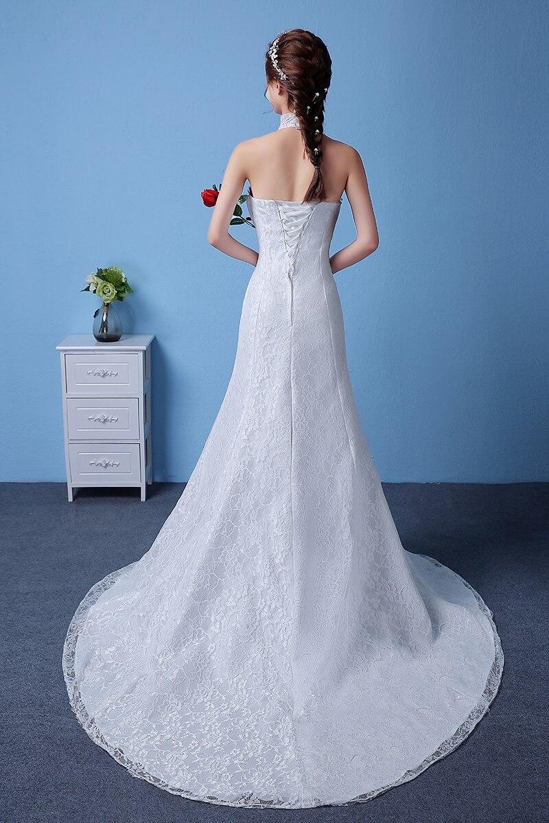 Autumn Spring 2017 New 0.8m Train White Red Mermaid Wedding Dresses ...