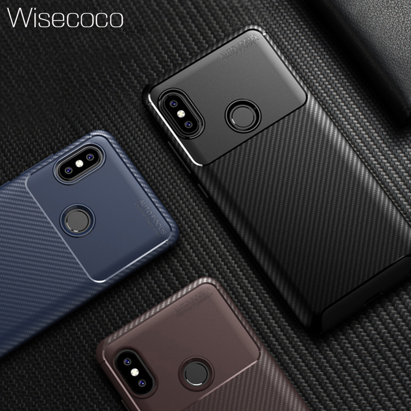 Soft Carbon Fiber Silicone Case for Xiaomi Mi 8 Lite Se Explorer Edition Max 3 <font><b>Pocophone</b></font> <font><b>F1</b></font> Redmi <font><b>6</b></font> 6a 5 Plus Note <font><b>6</b></font> 5 Pro Cover image