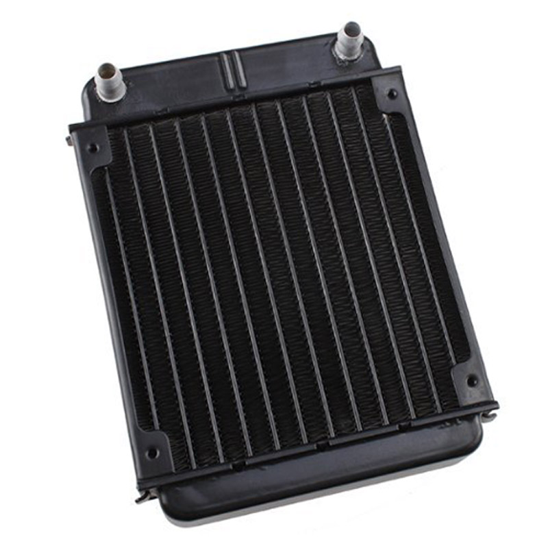 Black Aluminum Heat Exchanger Radiator For PC CPU CO2 Laser Water Cooling System Computer black paint efficient heat exchange water cooling radiator 10 tube number vacuum aluminum brazing for computer cpu