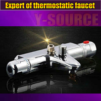 Free Shipping Bathtub Shower Faucet Thermostatic Faucet Shower Mixing Valve Auto Hot and Cold Water Bathroom taps FT 16