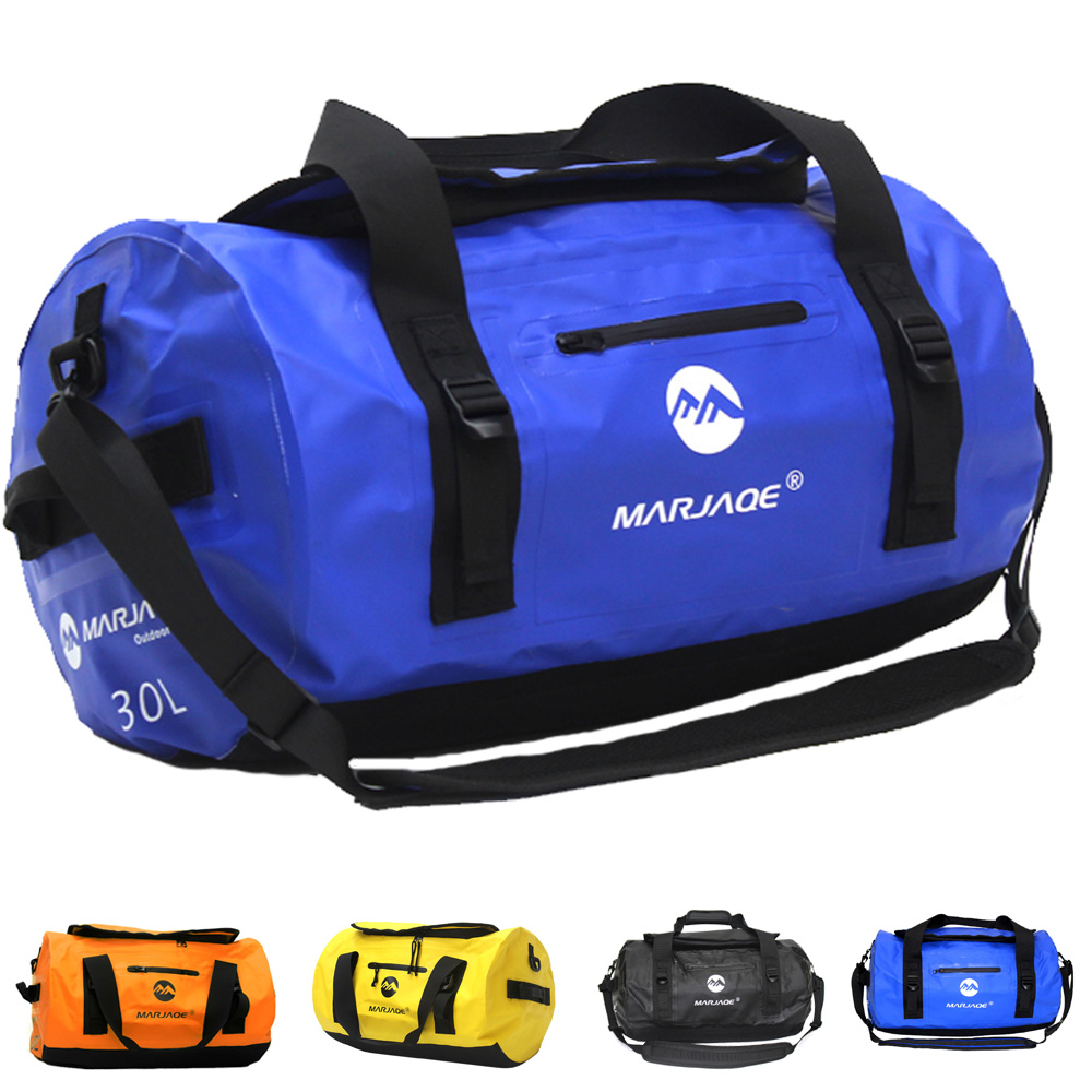 Waterproof 30L Kayak Duffel Bag Dry Bag Saddle Luggage Storage Bag Beach Rafting Motorcycle Travel Camping