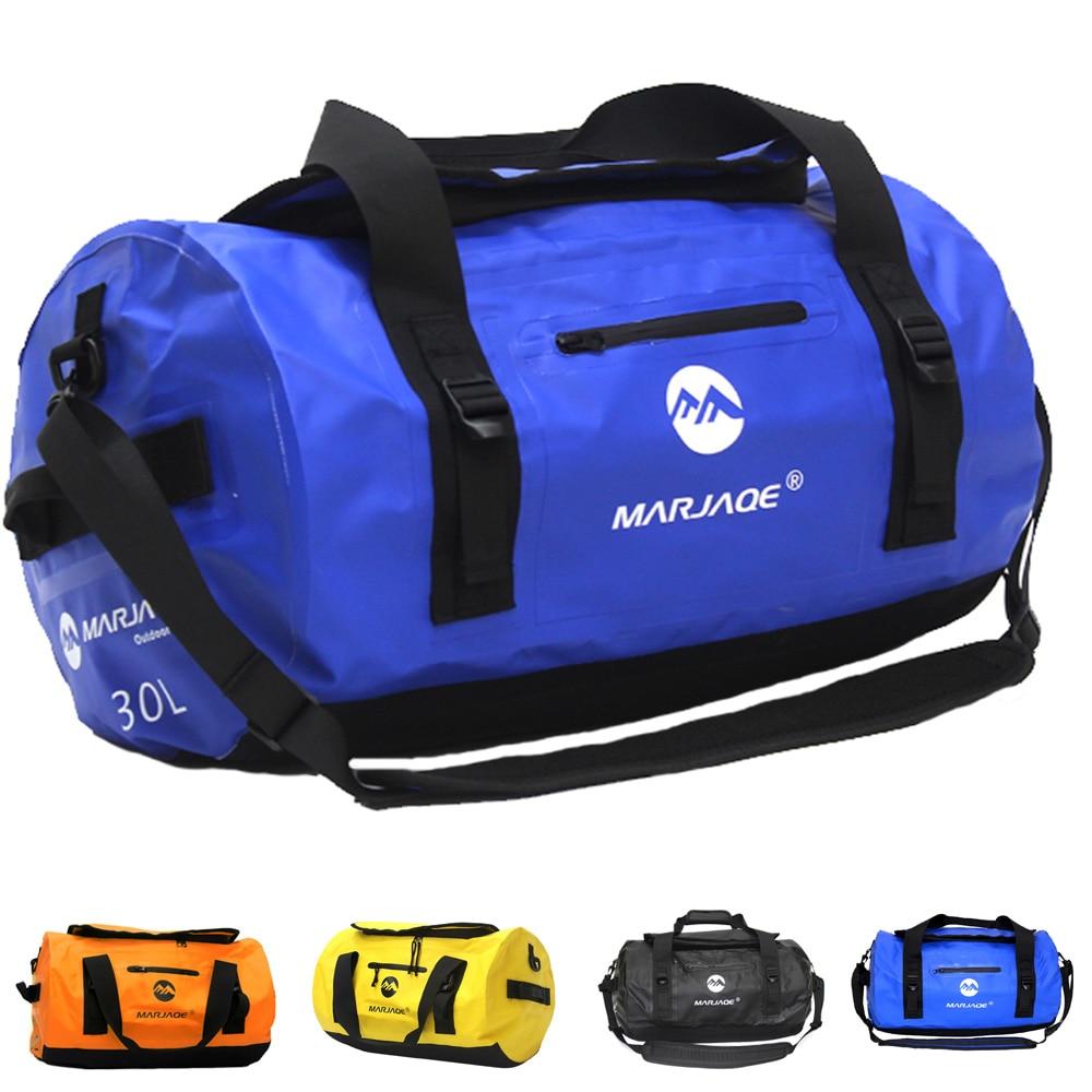 防水 30L カヤックダッフルバッグドライバッグサドル荷物収納袋ビーチラフティングオートバイ旅行キャンプアウトドアアドベンチャーバッグ  グループ上の スポーツ & エンターテイメント からの 手こぎボート の中 1