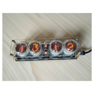 Image 3 - 4 bit integrated glow tube clock QS30 1, SZ 8 clock glow tube with acrylic case ,with remote control and LED Backlight