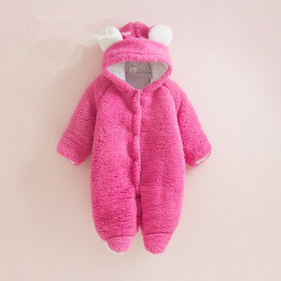 New 2016 autumn Winter rompers newborn baby clothes infant coral velvet cotton Rompers baby girls / boys jumpsuit kids coveralls new 2016 autumn winter kids jumpsuits newborn baby clothes infant hooded cotton rompers baby boys striped monkey coveralls