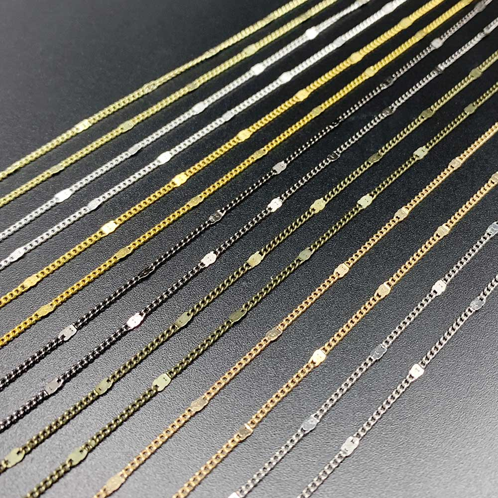 5m 10m/lot Metal Necklace Chains Silver/Gold/Bronze For Jewelry Making Findings DIY Necklace Anklets Accessories Bulk Wholesale