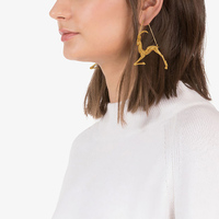 Fashionable and popular gold 12 constellation design series drop earring