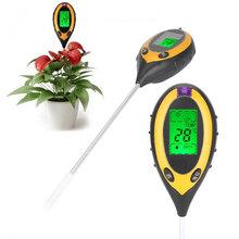 Soil Tester Analyzer Convenient LCD 4 in 1 Digital PH Meters Moisture Tester Flowers Plants Gauge Meter Outdoor Drop shipping