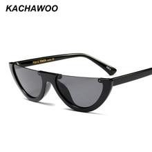 Pcs 6 Kachawoo atacado metade quadro do gato olho óculos de sol das mulheres  preto óculos de sol da moda para as mulheres 2018 p. fe7cfa186b
