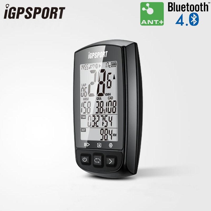 все цены на iGPSPORT IGS50E Cycling Computer ANT+ Bike GPS Wireless Bicycle Computer Backlight IPX6 Waterproof Digital Speedometer Computer