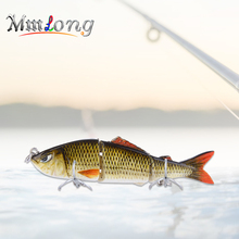 Купить с кэшбэком Mmlong 8cm Jointed Sections Fishing Lure Wobbler AL03B-1 7.7g 2 Treble Hooks Hard Bait Artificial Crankbaits Fish Tackle Pesca