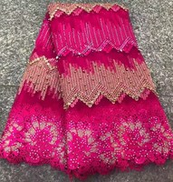 African French Lace Fabric High Quality 2017 Fashion Nigerian Wedding African Lace With Stones Lace Fabric
