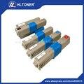 4 pçs/set cartucho de toner compatível (44973536 44973535 44973534 44973533) para OKI C301 C321dn