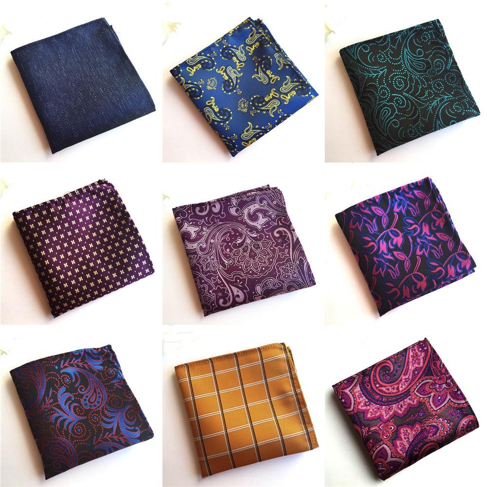 2019 Fashion Explosion Men's Quality Pocket Towel Unique Design Polyester Flower Business Suit Accessories Handkerchief