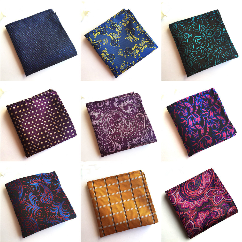 2020 Fashion Explosion Men's Quality Pocket Towel Unique Design Polyester Flower Business Suit Accessories Handkerchief