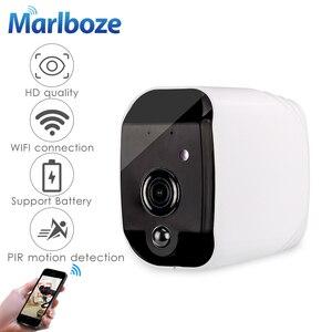 Image 1 - Marlboze Smart Batterij 1080 P HD wifi IP camera met nachtzicht bewegingsdetectie Audio suppor TF Card APP Alarm push thuis camera