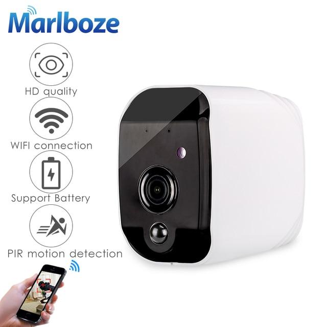 Marlboze Smart Batterij 1080 P HD wifi IP camera met nachtzicht bewegingsdetectie Audio suppor TF Card APP Alarm push thuis camera