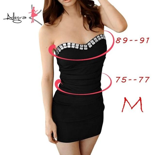 59ae25b7f4e6 Allegra K Ladies Strapless Pullover Elastic Top Plastic Crystal Decor Dress  Sheath Women Red