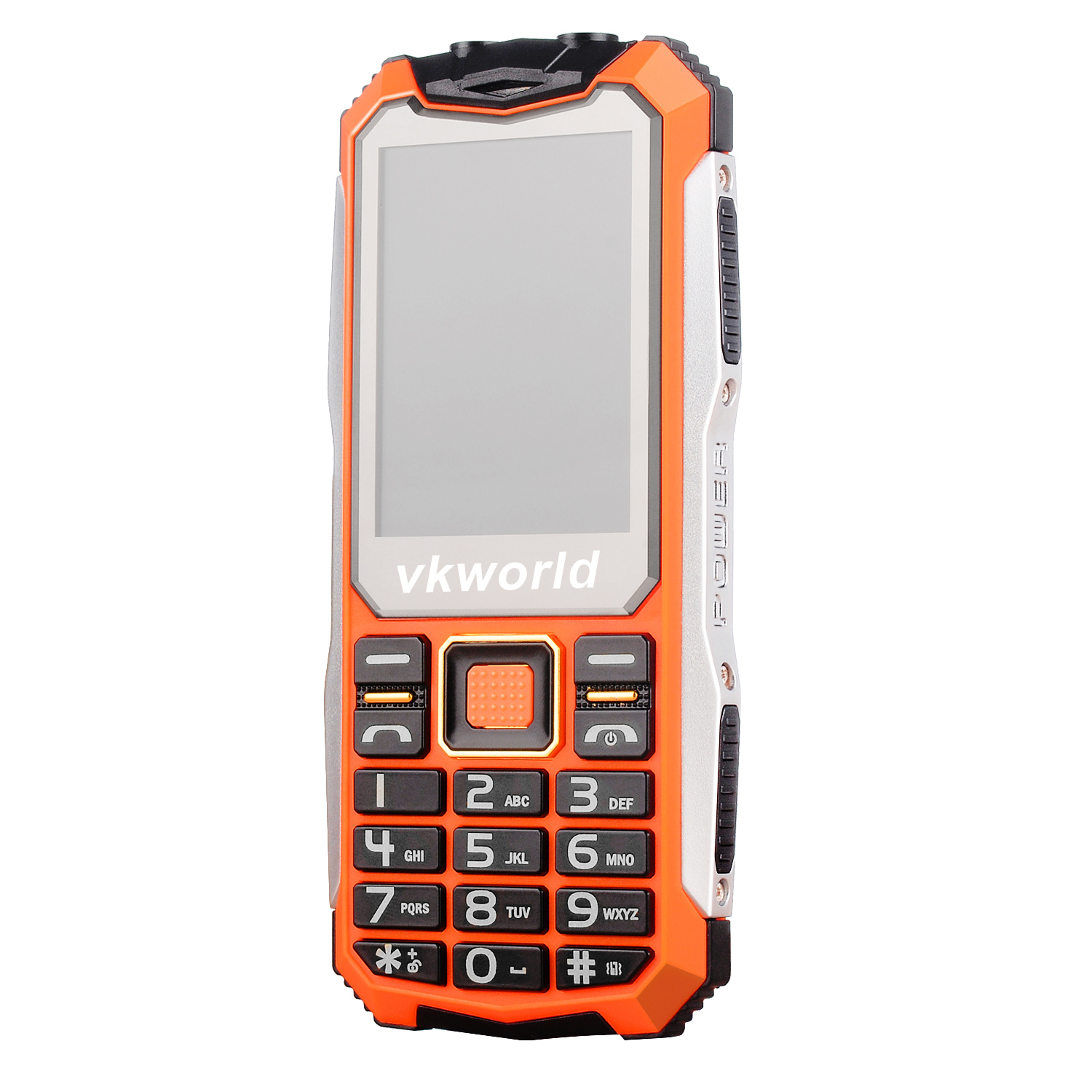 VKworld V3S Mobile Phone Waterproof Dustproof Featured Phone 2.4 inch 320x240 Du