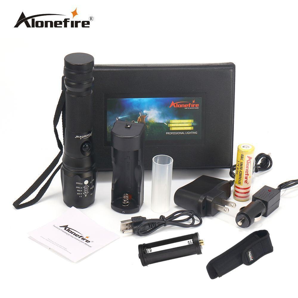 AloneFire X340 3800Lumens Tactical Flashlights Torches powerful led flashlight T6 Lighting Lamp 18650 10W Powerful bike