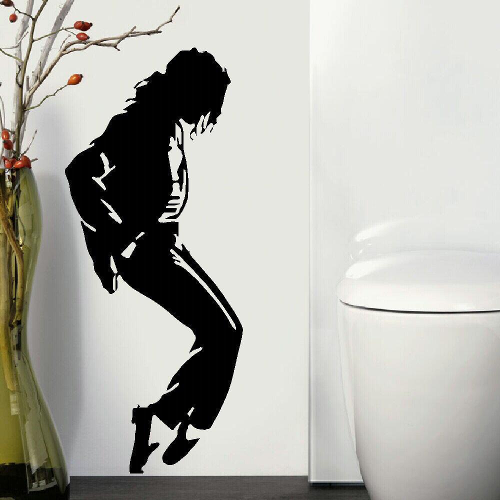 large michael jackson jacko music icon wall art sticker. Black Bedroom Furniture Sets. Home Design Ideas