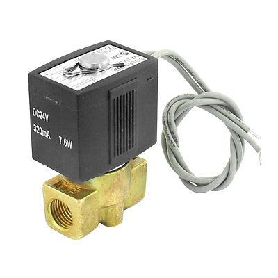 VX2120-X64 1/4 2 Port 2 Way Pneumatic Electric Solenoid Valve DC 24V 320mA 7.6W dc 24v 2 port 2 way 1 2pt female thread pneumatic electric solenoid valve