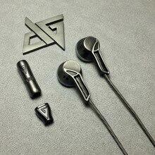 AUGLAMOUR RX-1 Full Metal In-Ear Écouteurs HIFI Dynamique Moniteur Audiophile Écouteurs